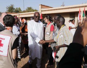 60e anniversaire de la Croix-Rouge burkinabè: le président du Faso à la cérémonie commémorative