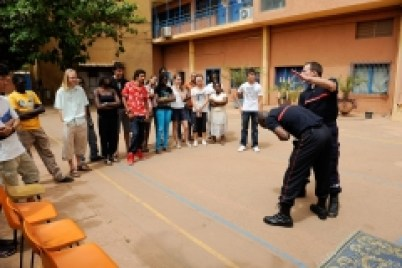Secourisme dans un lycée de Ouagadougou.