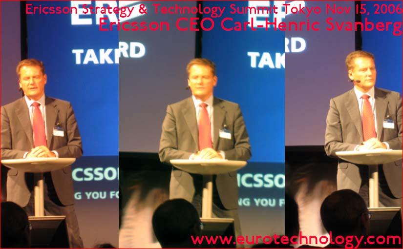 CEO Carl-Henric Svanberg explains Ericsson's strategy for the world's most advanced mobile communications market: Japan