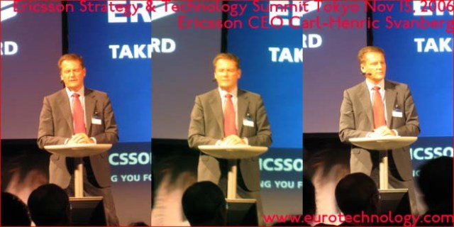 Ericsson CEO  Carl-Henric Svanberg speaking at the Ericsson Technology Summit in Tokyo