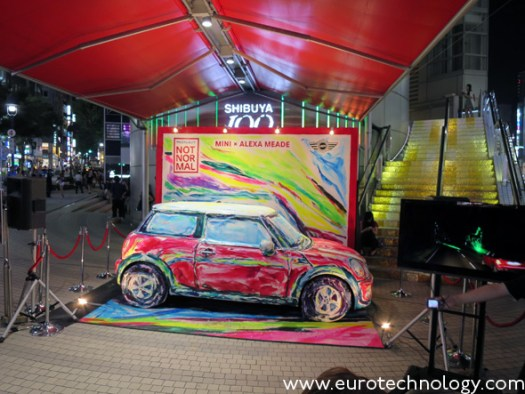 Alexa Meade paints MINI @109 in Shibuya