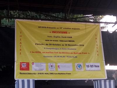 Objectif, informer le public burkinabé de leur toute nouvelle création portant sur « l'incivisme » qui s'effectuera du 20 octobre au 30 novembre 2018.