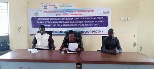 Prévention- des- conflits –politiques- des –acteurs- outillés -dans -le -Nahouri