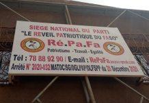 Politique - Dieudonné -Sawadogo -crée -le -RéPaFa