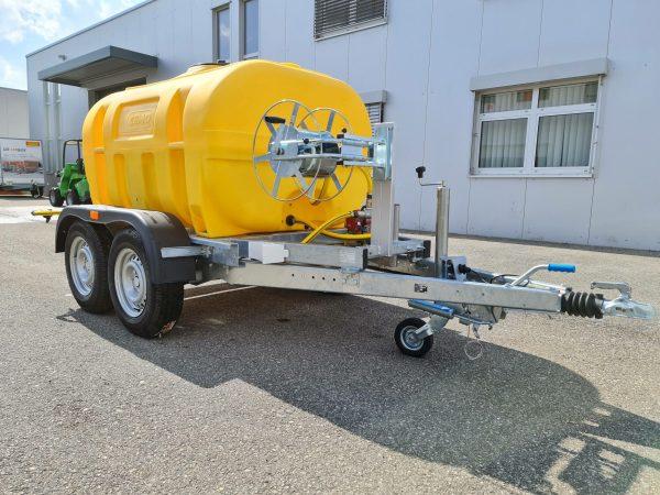 Wasserfass Anhänger 2000 Liter für PKW Wasserfass Anhänger mit Pumpe für Auto Wasserfasswagen
