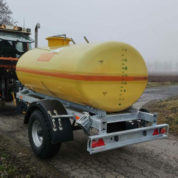 Wasserfass Anhänger 3000 Liter Wasserfass Anhänger mit Pumpe Wasserfasswagen 1