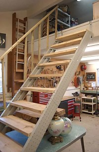 Garage Stair Stringers by Fast-Stairs.com