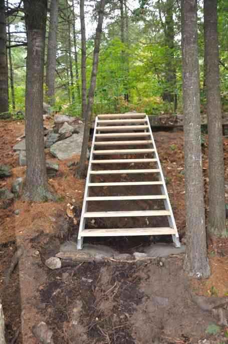 outdoor stair stringers