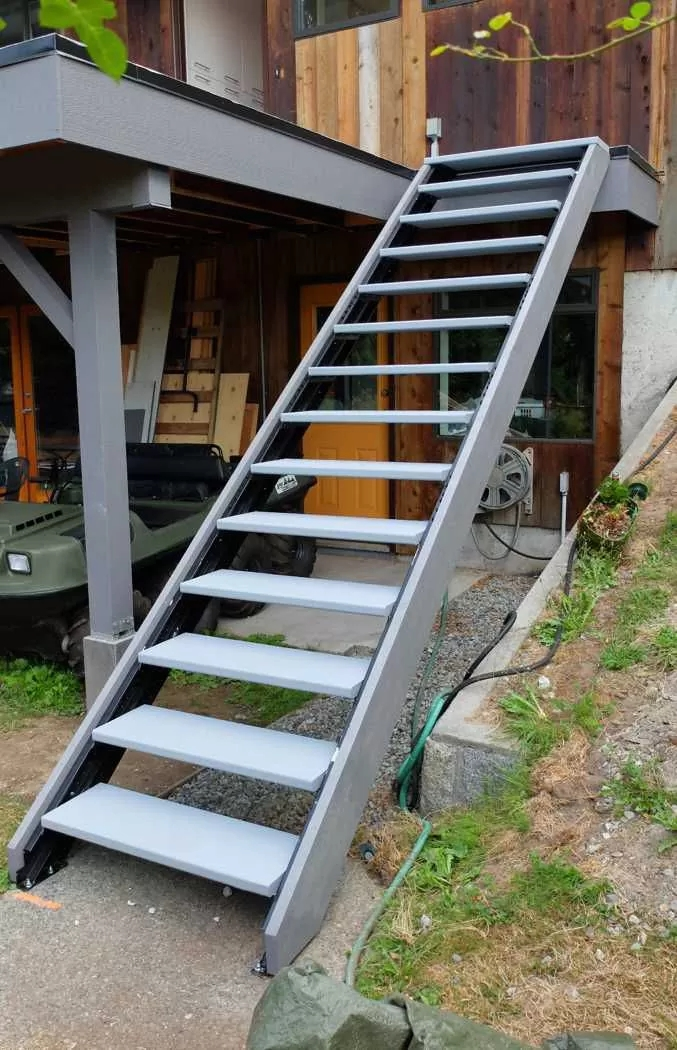 Outdoor Stair Stringers By Fast Stairs Com | Prefab Wooden Steps Outdoor