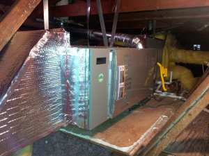 Horizontal Furnace in attic