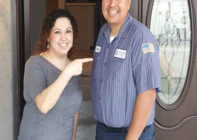 Angel with another happy customer in the city South Whittier