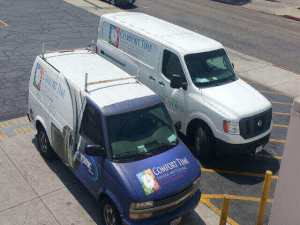 Comfort Time Heating and Cooling Service and repair trucks deployed in Whittier CA