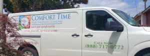 Comfort time heating and cooling service truck