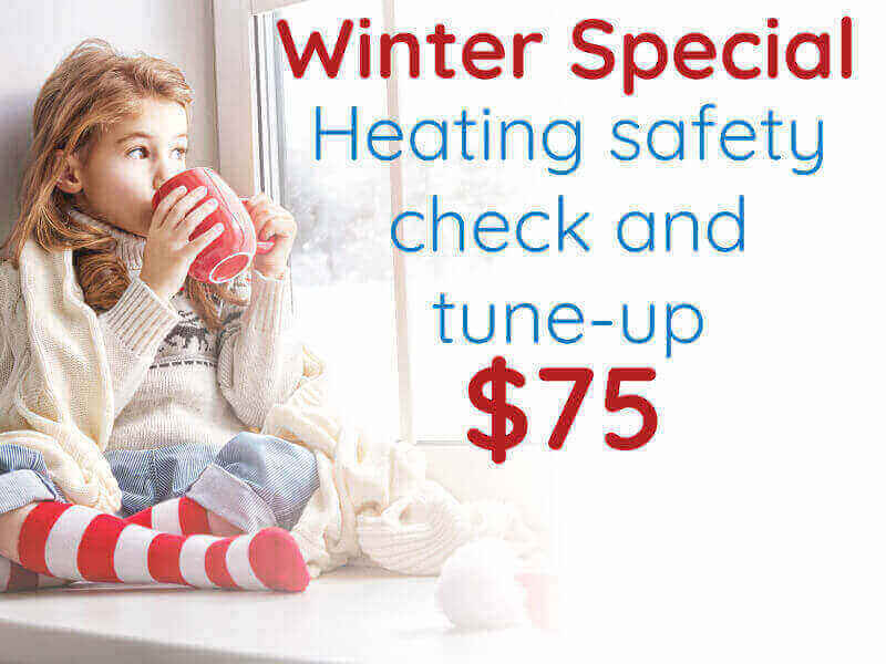 $75 winter heater tune-up special