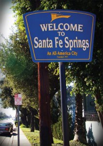 Santa Fe Spring Photo of Local Sign We Took