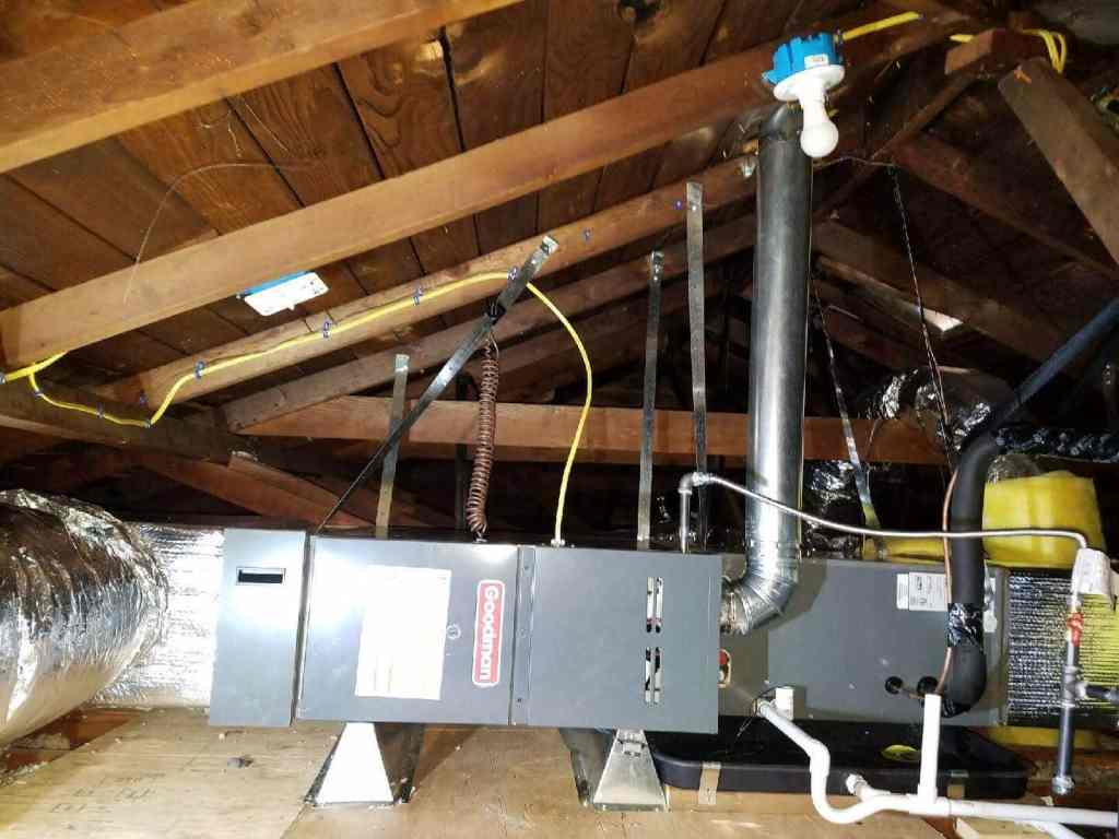 new furnace and installation of air conditioning