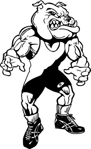 Mascot Decals :: Bulldogs Mascot Decals :: Wrestling