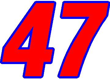 NASCAR Decals :: 47 Race Number 2 Color Switzerland Font Decal / Sticker