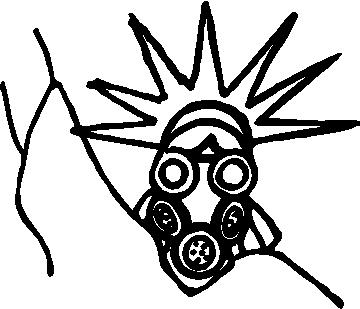 MIX BAG :: Gas Mask Statue of Liberty Decal / Sticker