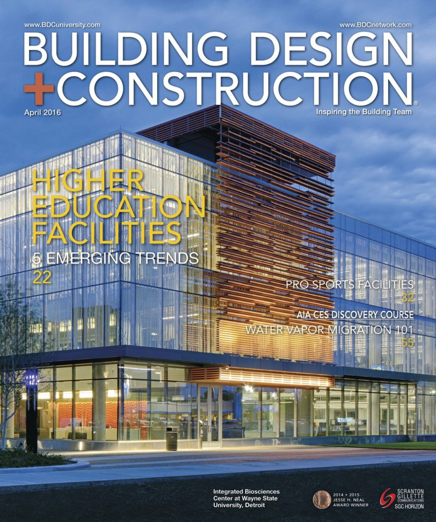 Building Design Construction April 2016 COVER