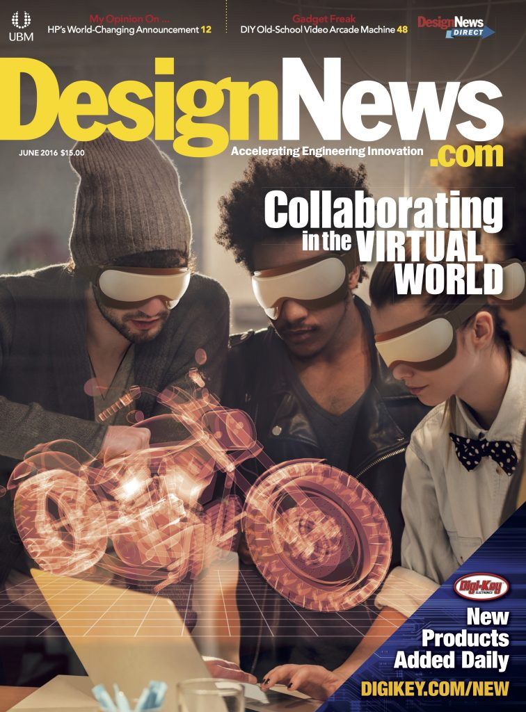 Design News June 2016 cover