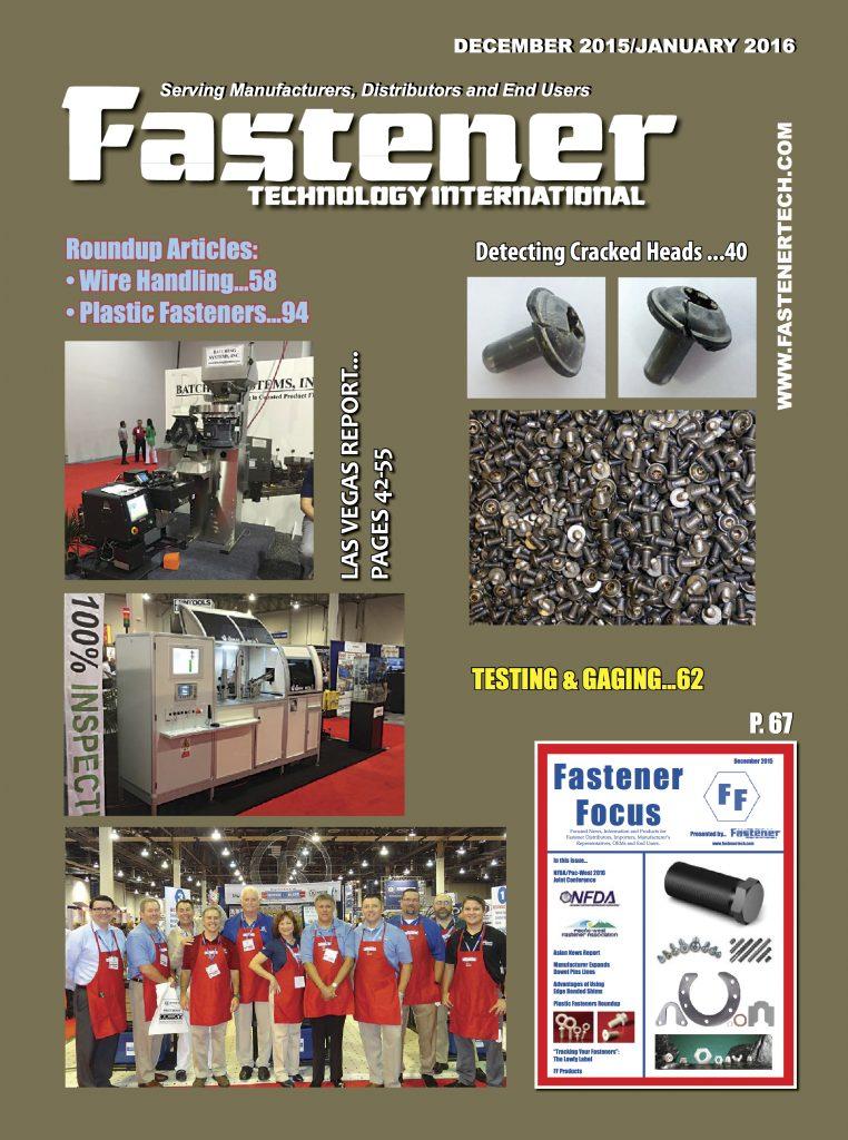 Fastener Technology InternationalDecember 2015  January2016 COVER