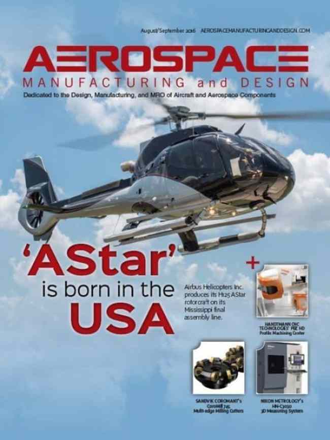 Aerospace Manufacturing and Design, August/September 2016