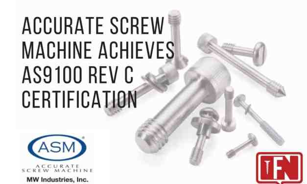 Accurate Screw Machine Achieves AS9100 REV C Certification