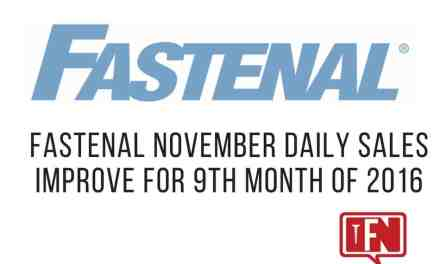Fastenal November Daily Sales Improve For 9th Month Of 2016