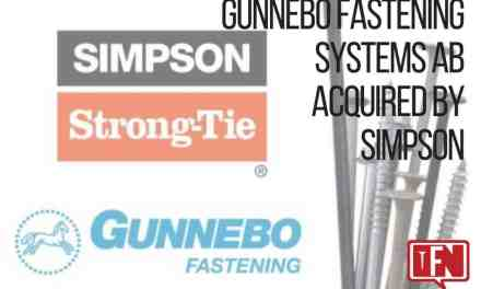 Gunnebo Fastening Systems AB acquired by Simpson