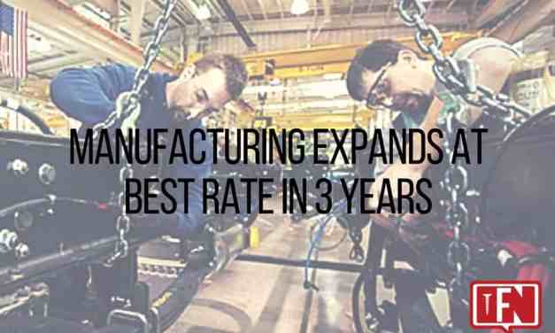 Manufacturing Expands at Best Rate in 3 Years