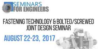Fastening Technology & Bolted/Screwed Joint Design