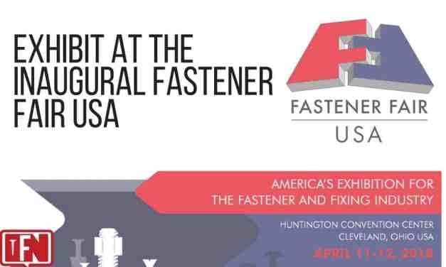 Exhibit at the Inaugural Fastener Fair USA