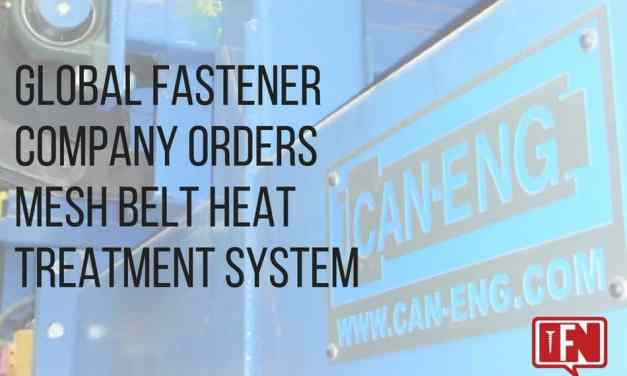 Global Fastener Company Orders Mesh Belt Heat Treatment System