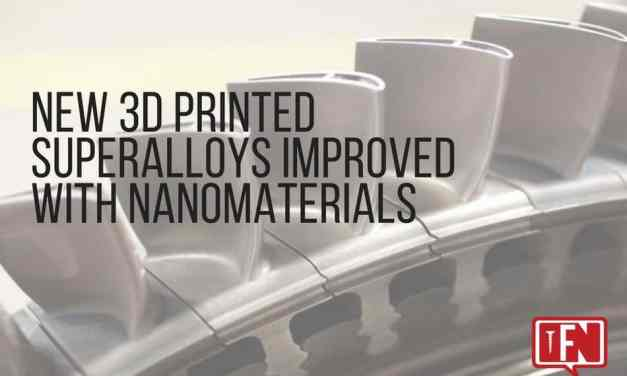 New 3D Printed Superalloys Improved with Nanomaterials