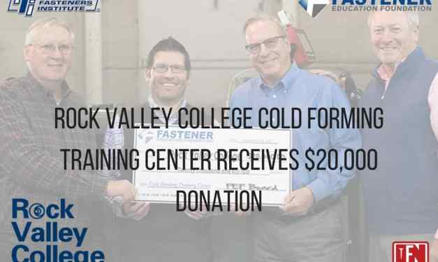 Rock Valley College Cold Forming Training Center Receives $20,000 Donation