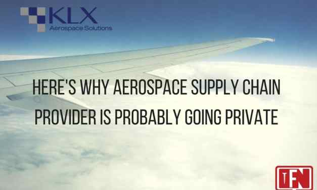 Here's Why Aerospace Supply Chain Provider KLX Is Probably Going Private