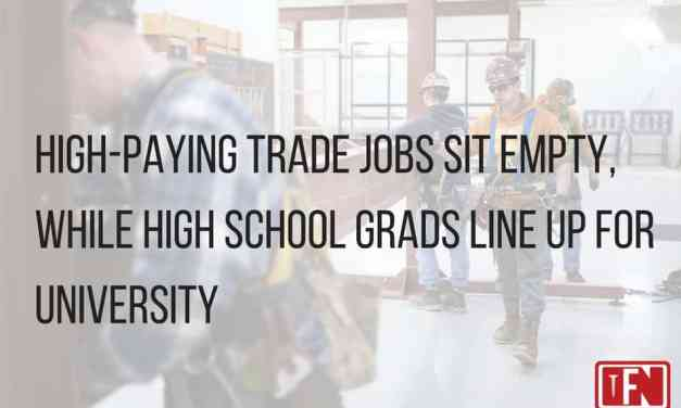 High-Paying Trade Jobs Sit Empty, While High School Grads Line Up For University