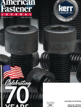 American Fastener Journal, May 2018