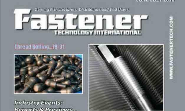FASTENER TECHNOLOGY INTERNATIONAL, JUNE 2018
