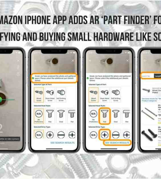 Amazon iPhone app adds AR 'part finder' for identifying and buying
