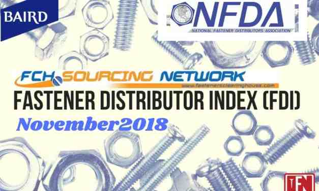 Fastener Distributor Index – November 2018