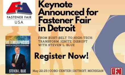 Keynote Announced For Fastener Fair in Detroit