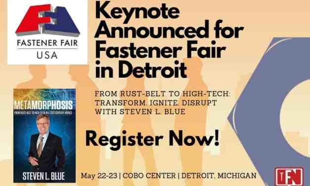 Keynote Announced For Fastener Fair in Detroit