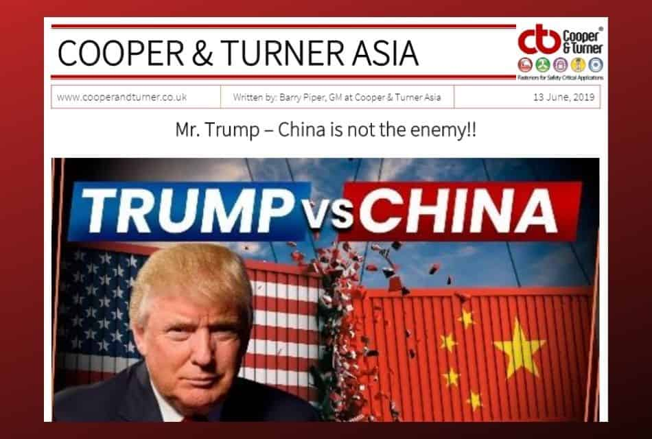 MR TRUMP AND CHINA
