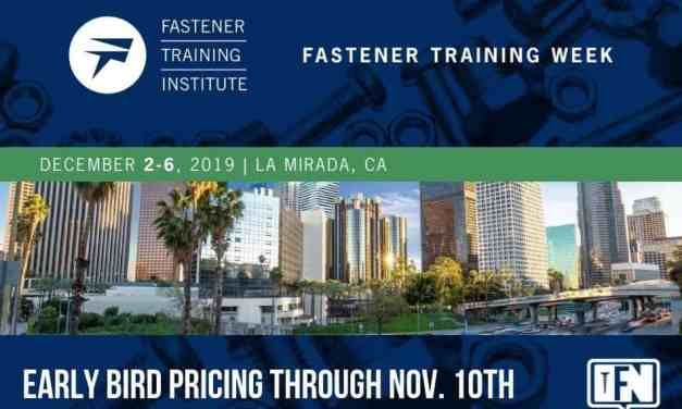 December Fastener Training Week Comes to Los Angeles Area