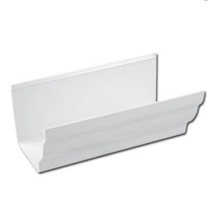 Ogee Gutter 4 Mtr (White) | Ogee Gutter Fascia Bracket (White) | Guttering | PVC Gutter | PVC Rainwater Goods | Faster Plastics
