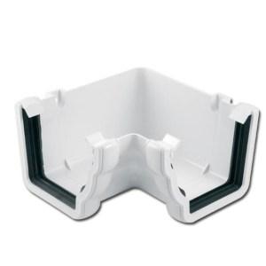 Ogee Gutter Angle Int 90 Deg (White) | Guttering | PVC Gutter | PVC Rainwater Goods | Faster Plastics