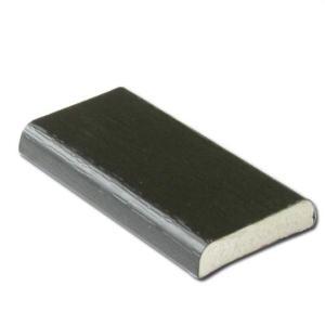 D-Section 25mm (Black Ash) | PVC Trims and Soffits | Faster Plastics