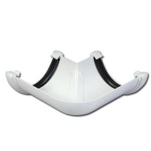 Half-Round Gutter Angle 90 Deg(White) | Guttering | PVC Gutter | PVC Rainwater Goods | Faster Plastics